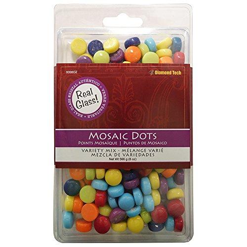 Diamond Tech Mosaic Dots, 8 oz, Multicolor Tile Dot Mix