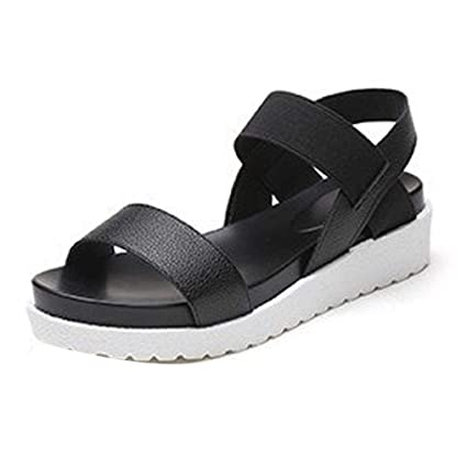 d80892537 Image Unavailable. Image not available for. Color  Gotd Women Peep-toe Low Heel  Flip Flop Wedge Sandals Slide Platform ...