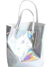 Mogor Women's Hologram PU Shopper Shoulder handbag