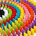 200個木製Doninoセット& 12種類のOrgans austark Building and StackingタンブルDominoes Game Blocksおもちゃfor Kids ( 12色)の商品画像