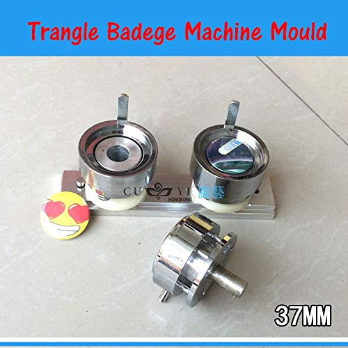 Maslin Button Maker Mould 1-1/2'' (37MM) Plastic Triangle Badge Machine Mold of 37mm Mould