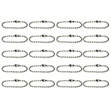 20pcs Ball Bead Chains Connector Clasp Keychain 2.4mm x 10cm