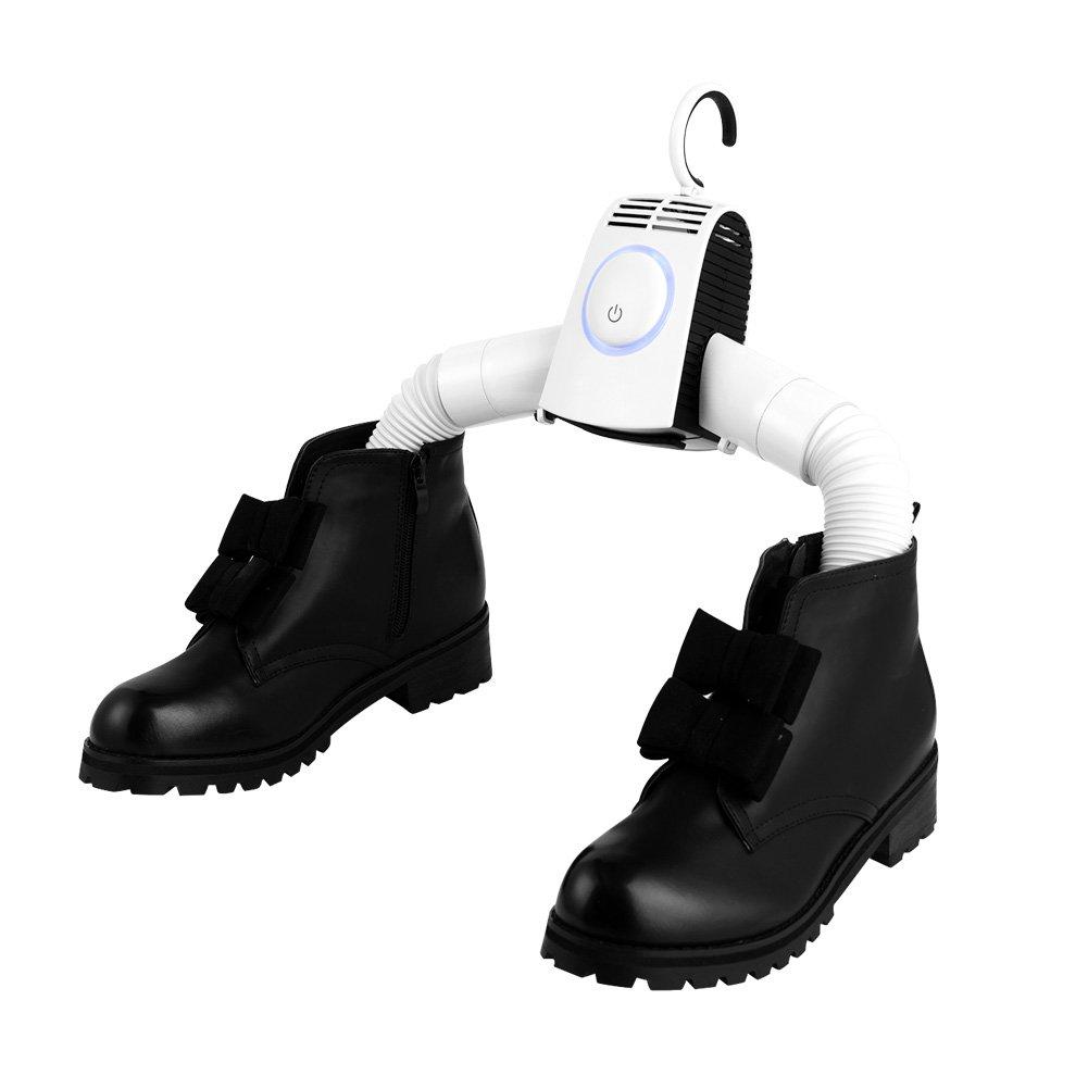 Volador 衣類乾燥機 ハンガー 衣類と靴乾燥2in1 ホット風とコールド風1-3時間急速乾燥 取り外し携帯可能
