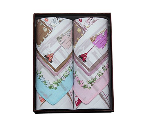 Lovely Item Women's Soft Cotton Modern Clothes Floral Cartoon Print Handkerchief from Lovely Item Handkerchiefs