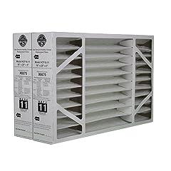Lennox Genuine OEM Replacement Media Filter 16x25x5 (MERV 11) Fits Lennox Model X6660, HCF16-10, HCC16-28. (2-Pack Special)