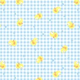 Chicks Fabric Easter Fabric BY HALF METRE - Yellow Ducks on Blue Gingham Background Easter Spring Fabric - Kids Fabric Childrens Fabric by Red Rooster - 100% Cotton by Red Rooster