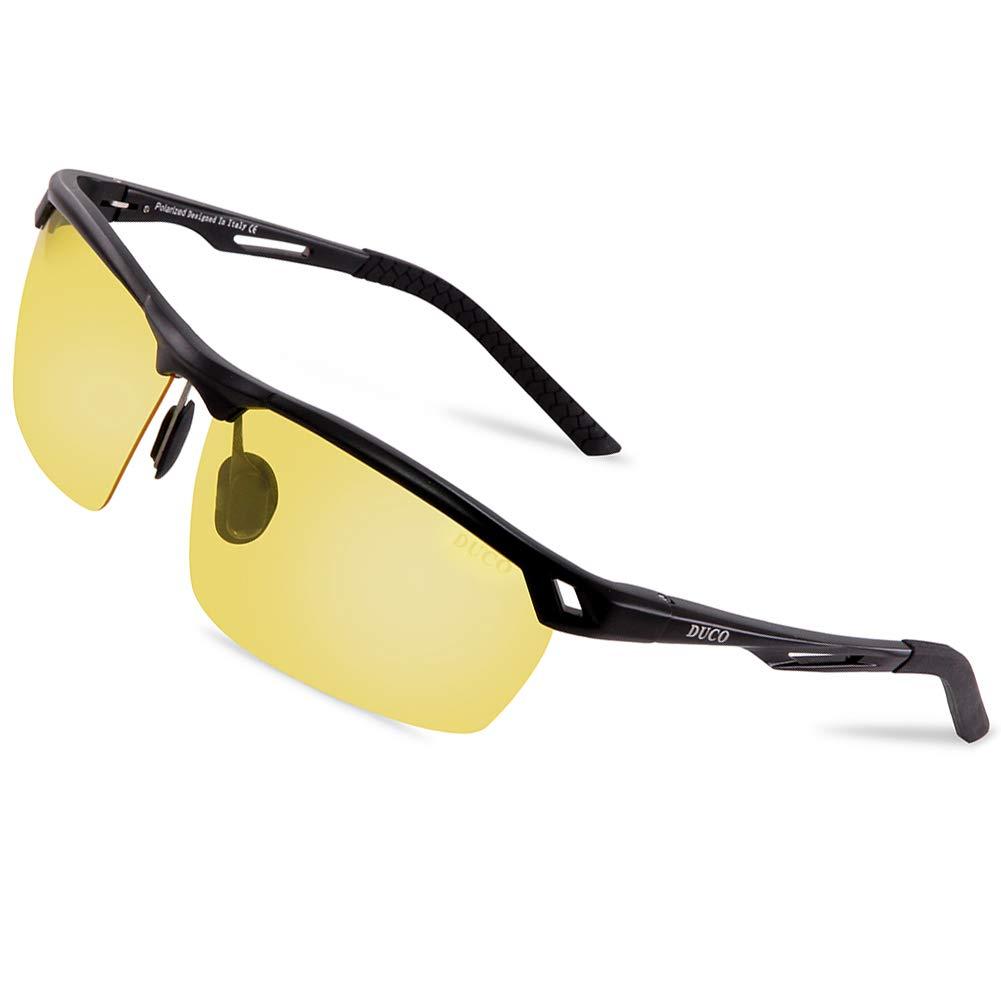 DUCO Nachtsichtbrille Anti-Glanz Fahren Brillen Kontrast-Brille Nachtfahrbrille polarisierte 8550