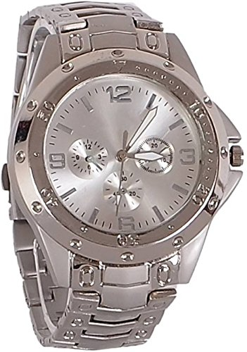 MAHIT Rosra Analogue Metal Silver Dial Watch for Men
