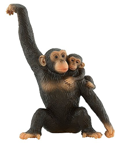 Bullyland Chimpanzee with Baby Action Figure