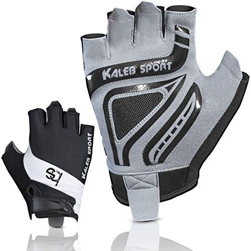 Kaleb Sport Universal Gloves with Special Rubber Coating for Non-Slip Grip | Improved Ventilation | Great for Rowing, Gym Workout, Kayaking | Suitable for Both Men & Women