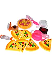 Purchase 16pcs Kitchen Pizza Party Food Cooking and Cutting Pretend Play Set Toy For Kids deliver