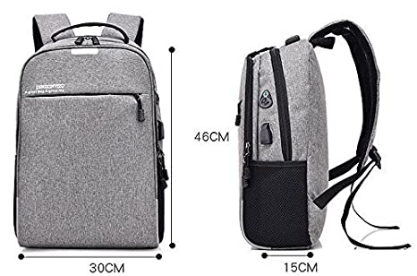 Bagzar Anti Theft Backpack with Password Lock in Cipher Backpack with Port  and Headphone Hole Water Resistant Laptop Backpack Lightweight Business USB  ... f61bc913a1a4a