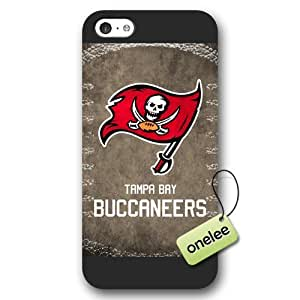 Personalize NFL Tampa Bay Buccaneers Team Logo Frosted iPhone 5c Black Case Cover - Black by kobestar
