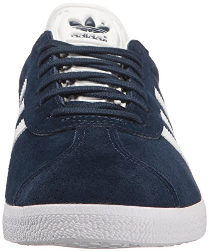 Adidas Originals Women's Gazelle W Sneaker, Collegiate Navy/White/Gold Metallic, 8.5 M US