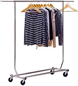 Decobros Supreme Commercial Grade Clothing Garment Rack Chrome