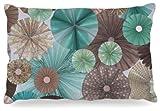Kess InHouse Heidi Jennings ''Atlantis'' Teal Brown Dog Bed, 30 by 40-Inch