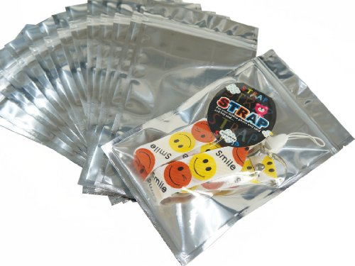 Wholesale Lot of 95 Pack Silver Tone Ziplock