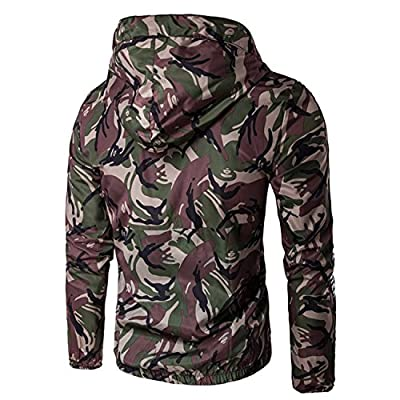 Shining4U Handsome Mens Casual Camouflage Jacket With Hooded Waterproof Sport Outdoor Coat