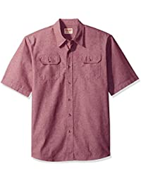 Authentics Men's Short-Sleeve Classic Woven Shirt