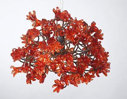 Kronleuchter Floral ~ Pendelleuchte u lampenschirm rot u kronleuchter deckenleuchte