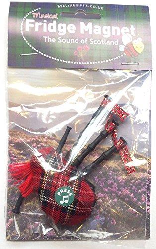 [해외]스코틀랜드 선물 - 타탄 뮤지컬 백파이프 냉장고 자석 - 영국 선물/Scottish Gift - Tartan Musical Bagpipe Fridge Magnet - Uk gifts
