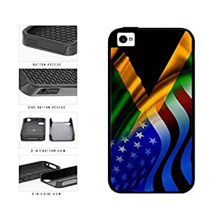 Jamaica and USA Mixed Flag 2-Piece Dual Layer Phone Case Back Cover Apple iPhone 6 plus 5.5 includes diy case Cloth and Warranty Label