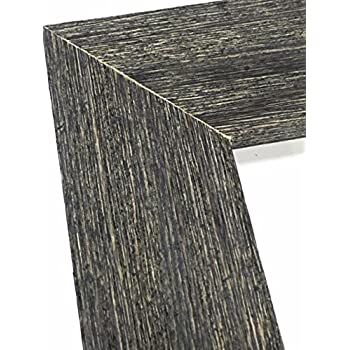 85x11 charcoal black ready made frame weathered real wood with rustic finish 15 thick moulding plexi glass front