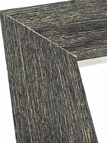 12x36 Charcoal black Ready-Made Frame Weathered Real Wood With Rustic Finish 1.5