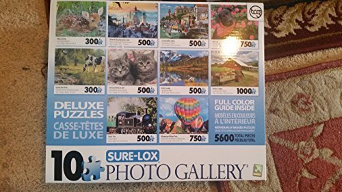 (Sure-Lox ART GALLERY 10 Deluxe Puzzles 5600 Total Pieces)