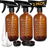 Best Cleaning Spray Bottles - Nylea 3 Pack Refillable 16 oz Amber Glass Review