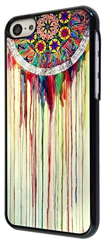 598 - WaterColour Dream Catcher Eastern Lucky Sharm Cool Design iphone 5C Coque Fashion Trend Case Coque Protection Cover plastique et métal - Noir