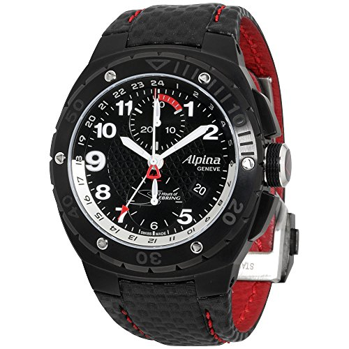 Alpina Racing Black Dial Leather Strap Men's Watch AL750LBR5FBAR6