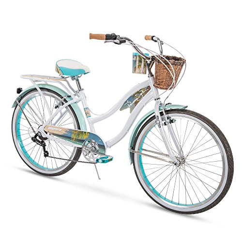 Huffy Bicycle Company Panama Jack Beach Cruiser Bike, Pearl White, 26 inch