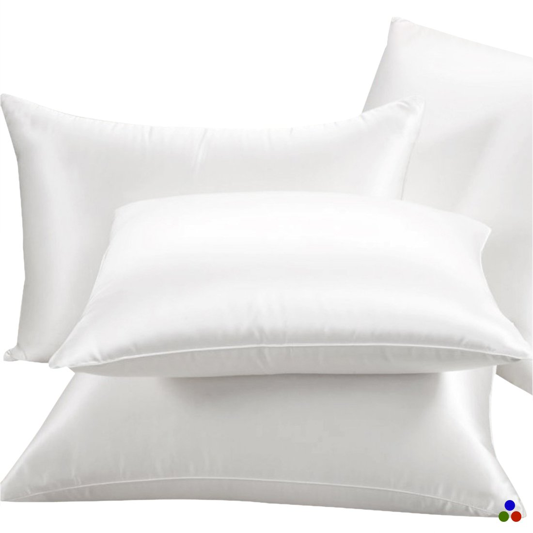 ElleSilk Silk Filled Pillow, White Silk Covered Pillow, 100% Natural Mulberry Silk, Firm Support, Naturally Breathable, King, 1pc