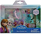 Disney Frozen Elsa and Anna Girls Hair and Jewelry Accessory 6 Piece Gift Set