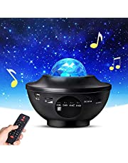 Galaxy Projector for Kids Bedroom, Romantic Sky Light with Bluetooth Speaker with LED Nebula Cloud Ideal for Boys and Girls, Game Rooms, Home Theatre, Disco Light Dancing with Music (Black)
