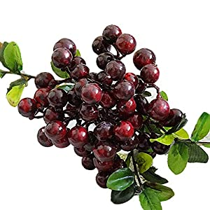 ink2055 1 Branch Artificial Fruit Berry DIY for Garden Party Home Wedding Holiday Stage Photo Prop Craft Floral Decor 8