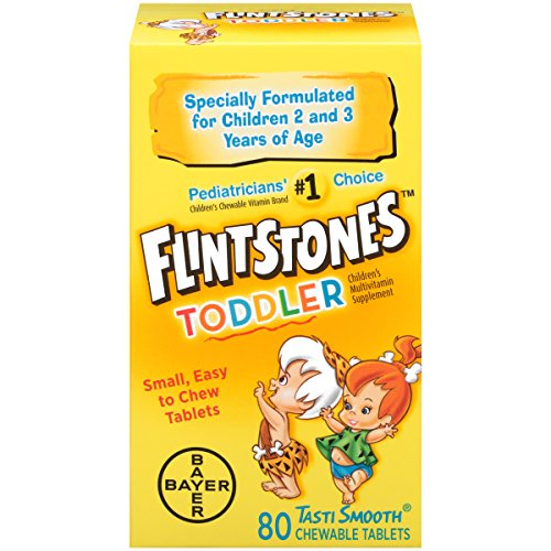 Flintstones Toddler Chewable, 80 Count