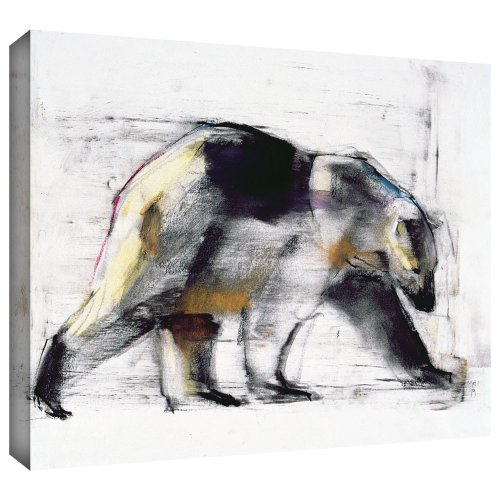 ArtWall Mark Adlington 'Ursus Maritimus' Gallery Wrapped Canvas Artwork, 24 by 32-Inch (Bear Artwork Polar)