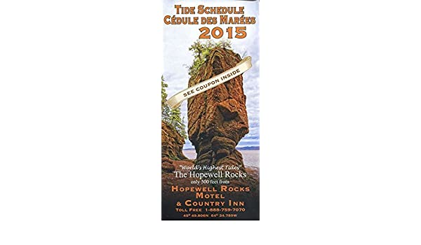 Hopewell Rocks New Brunswick Canada Tide Schedule Illustrated