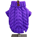 FouFou Dog Urban Knit Sweater, Purple, XX-Large, My Pet Supplies