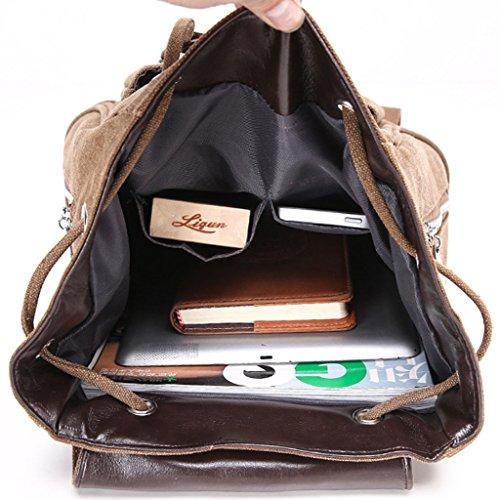 KeshiNeu Faschion Rucksäcke Damen Mädchen Schüler Lässige Canvas Rucksack Vintage Backpack Daypack Schulranzen Schulrucksack Wanderrucksack Schultasche Rucksack für Freizeit Outdoor SportLeinwand Braun Kzjcj0cYhC