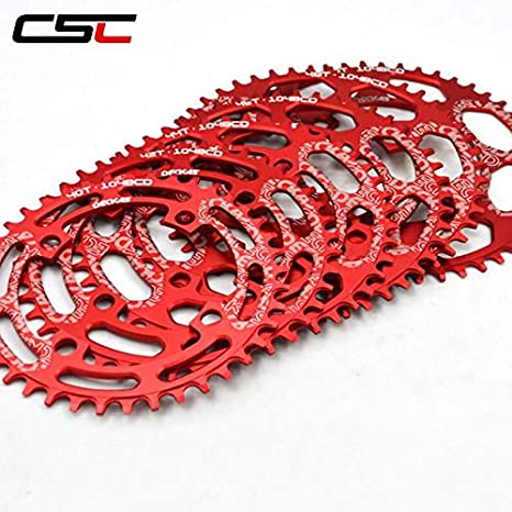 Pathpark 104BCD Bicycle Chainring 40T 42T 44T 46T 48T 50T 52T Round Narrow Wide Single Chainwheel Bicycle Crank for MTB