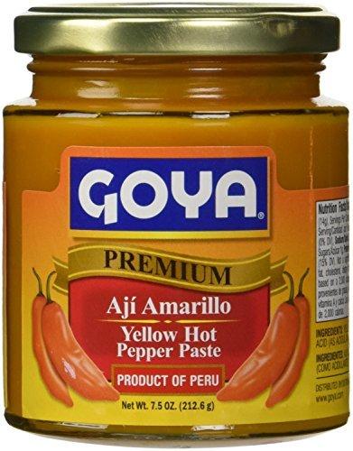 Aji Amarillo Pepper - Goya Yellow Hot Pepper Paste 7.5 oz - Aji Amarillo