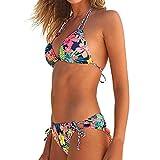 Photno Bikini Swimsuit for Women, Brazilian Padded Swimwear Beach Two Piece Beachwear Bathing Suit Red