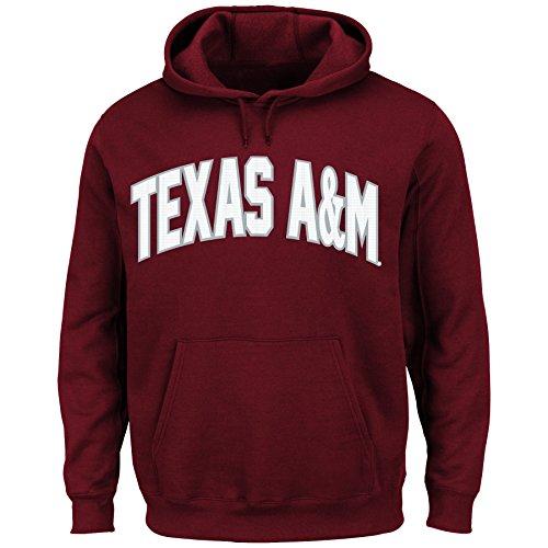 (NCAA Texas A&M University Men's Cheering Them Long Sleeve Pullover Jacket, True Maroon, Small)