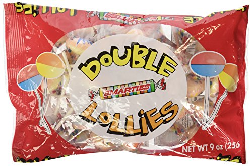 Double Lollipops - Smarties Double Lollies, 9oz Bag