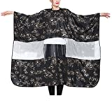 FANCY PUMPKIN Salon Gown Hair Cutting Cape Barber Smocks Haircut Cover Cloth with Viewing Window, B