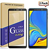 [2-Pack] Samsung Galaxy A7 /A750 (2018) Full Coverage Screen Protector Tempered Glass, Zeking Max Coverge [Anti Scratch][Anti-Fingerprint] Bubble Free, Lifetime Replacement Warranty