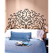 Scrolled Wall-Mount Headboard (King)